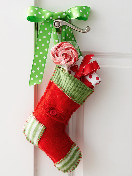 Christmas Doorknob Stockings